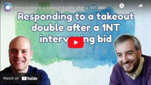 Responding to a takeout double after a 1NT intervening bid