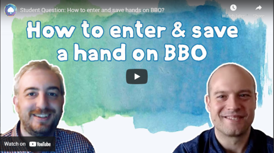 Student Question: How to enter and save hands on BBO?