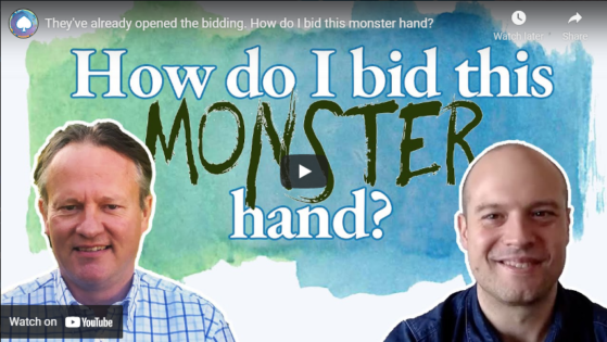 They've already opened the bidding. How do I bid this monster hand?