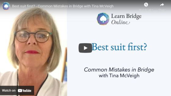 Best suit first? – Common Mistakes in Bridge with Tina McVeigh
