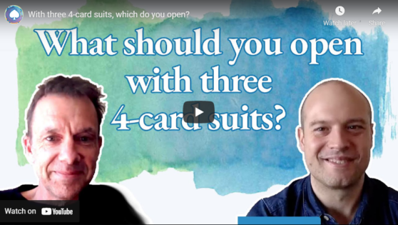With three 4-card suits, which do you open?