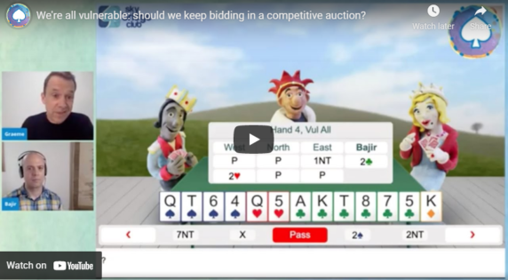 We're all vulnerable: should we keep bidding in a competitive auction?