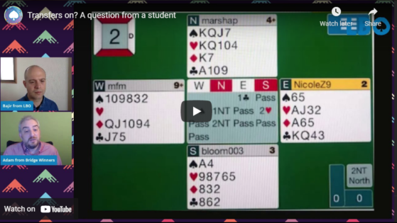 Transfers on? A question from a student