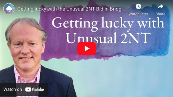Getting lucky with the Unusual 2NT Bid in Bridge